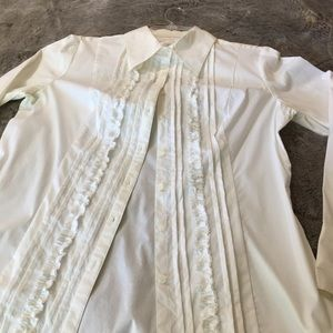 White long sleeve Carrera blouse size 12